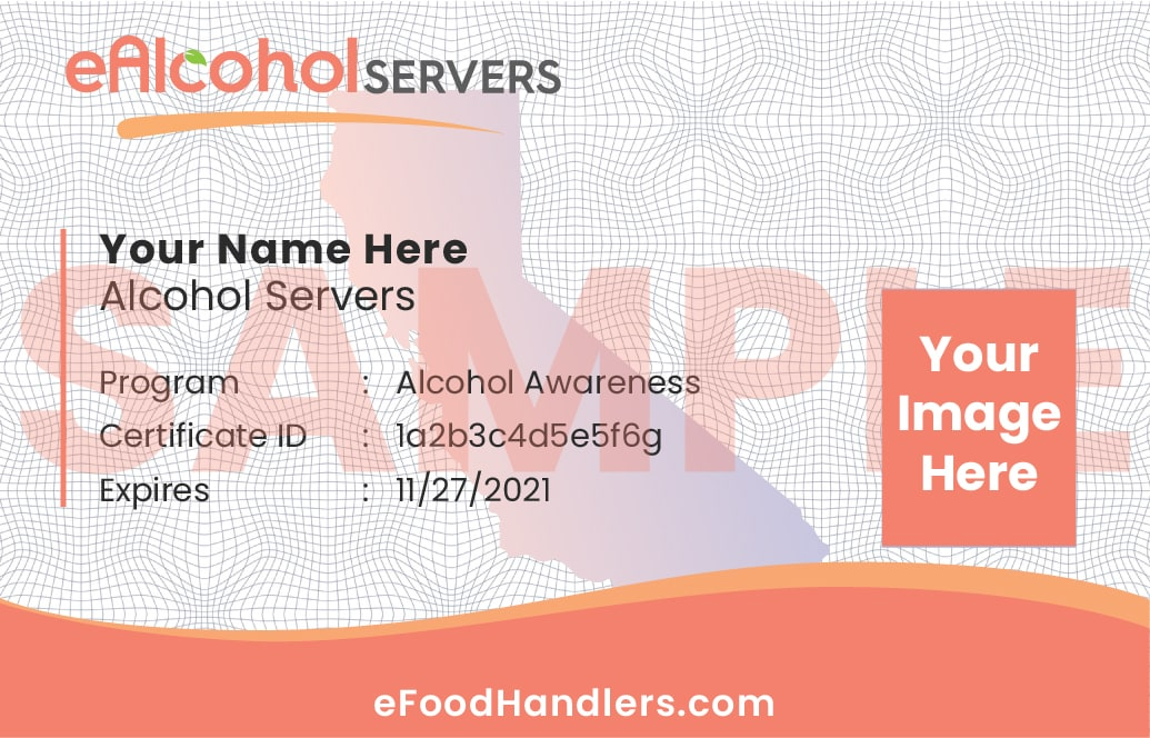 Sample Alcohol Servers Card